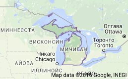 Мичиган карта